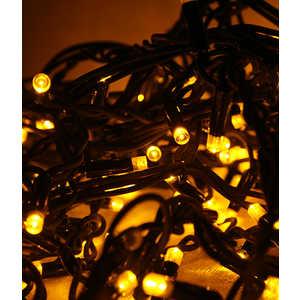 Гирлянда Light Светодиодная нить 10 м жёлтая 100 led 24V чёрный провод