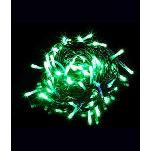Гирлянда Light Светодиодная нить 10 м зелёная 100 led 24V чёрный провод