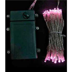 Гирлянда светодиодная Light Нить на батарейках 10 м светло розовая 4,5V прозрачный провод