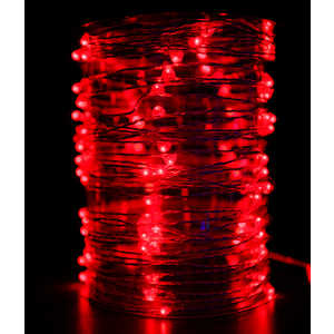 Гирлянда светодиодная нить Light Роса красная 10 м 12V.