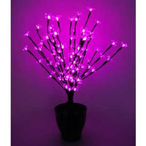 """Светодиодная композиция Light """"Цветок в горшке"""" цветы сакуры розовый 60 см, 94 led чёрный провод"""