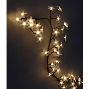 Светодиодная композиция Light Ветка Плюмерии матовые цветы 1,5 м теплый белый