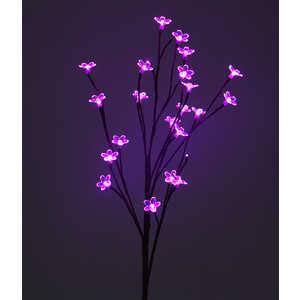 Light Ветка Сакуры на батарейках розовый 90 см, прозрачный провод шар ветка 80мм стекло розовый