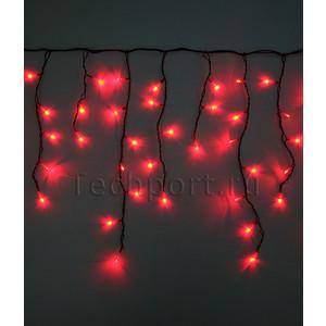 Light Светодиодная бахрома красная 3,1x0,5 чёрный PVC провод