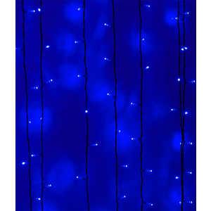 Light Светодиодный занавес синий 2x3 чёрный PVC провод legoled светодиодный занавес play light мерщание 600 led ламп 2x3 м