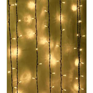 Light Светодиодный занавес тепл. белый 1x6 чёрный PVC провод фото