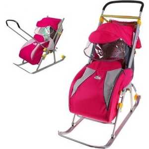 Фото - Санки-коляска Ника Детям 4 (розовый) НД4 детям