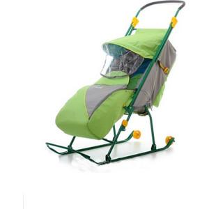 Санки-коляска Ника Тимка Люкс на колесах (зеленый) ТЛ