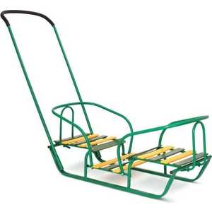 коляски для двойни и погодок Санки Ника для двойни (зеленый) СД