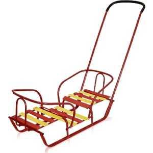 коляски для двойни и погодок Санки Ника для двойни (красный) СД