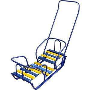 коляски для двойни и погодок Санки Ника для двойни (синий) СД