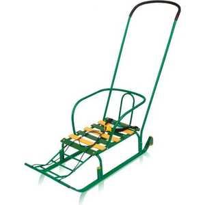 Санки Ника Тимка 3+ на колесах (зеленый) Т3+