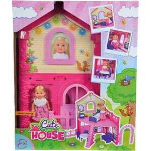 Smoby Кукла Еви в двухэтажном доме, 12 см., 38 5731508