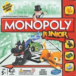 Настольная игра Hasbro Моя первая монополия A6984