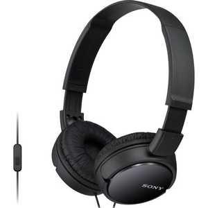 Наушники Sony MDR-ZX110AP black наушники sony mdr zx110ap white