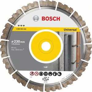 Диск алмазный Bosch 230х22.2 мм Best for Universal (2.608.603.633) набор лент для ленточных шлифмашин bosch best for wood 75x533 мм 10 шт