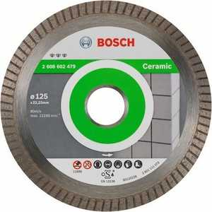 Диск алмазный Bosch 125х22.2 мм Best for Ceramic Extra-Clean Turbo (2.608.602.479) диск алмазный bosch 150х22 2 мм best for universal turbo 2 608 602 673