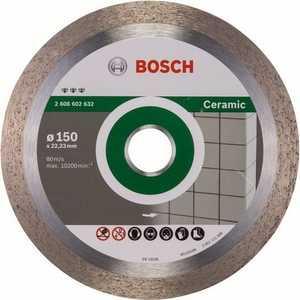 Фото - Диск алмазный Bosch 150х22.2 мм Best for Ceramic (2.608.602.632) диск алмазный bosch 2 608 602 201 pf ceramic 115 22 23