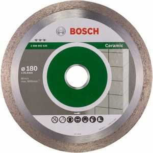 Фото - Диск алмазный Bosch 180х25.4 мм Best for Ceramic (2.608.602.635) диск алмазный bosch 2 608 602 201 pf ceramic 115 22 23