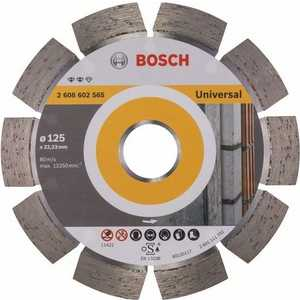 Диск алмазный Bosch 125х22.2 мм Expert for Universal (2.608.602.565) диск алмазный bosch 125х22 2 мм expert for universal turbo 2 608 602 575