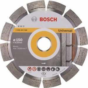 Диск алмазный Bosch 150х22.2 мм Expert for Universal (2.608.602.566) диск алмазный bosch 125х22 2 мм expert for universal turbo 2 608 602 575