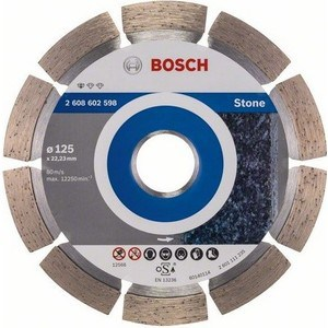 Диск алмазный Bosch 125х22.2 мм Standard for Stone (2.608.602.598) диск алмазный bosch 180х22 2 мм standard for stone 2 608 602 600