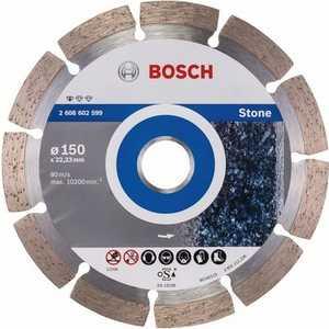 Диск алмазный Bosch 150х22.2 мм Standard for Stone (2.608.602.599) диск алмазный bosch 180х22 2 мм standard for stone 2 608 602 600