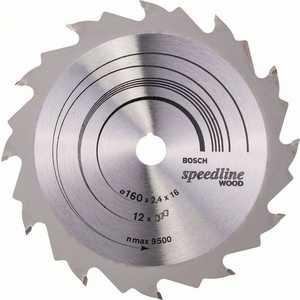 Диск пильный Bosch 160х16мм 12зубьев Speedline Wood (2.608.640.784)