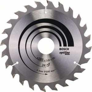 Диск пильный Bosch 165х30мм 24зуба Optiline Wood (2.608.640.602)