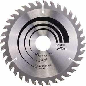 Диск пильный Bosch 165х30мм 36зубьев Optiline Wood (2.608.640.603)