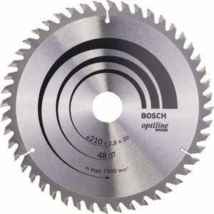Диск пильный Bosch 210х30мм 48зубьев Optiline Eco (2.608.640.623)