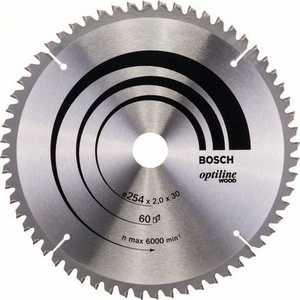 цена на Диск пильный Bosch 254х30мм 60зубьев Optiline Wood (2.608.640.436)