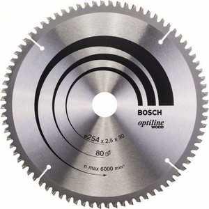 Диск пильный Bosch 254х30мм 80зубьев Optiline Wood (2.608.640.437)