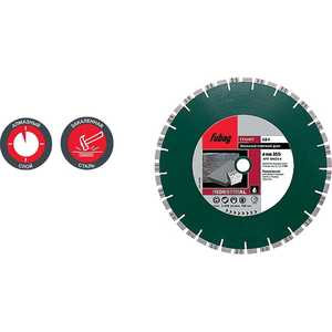 Диск алмазный Fubag 300х30/25.4мм GS-I (54622-6) диск алмазный fubag 300х30 25 4мм gs i 54622 6