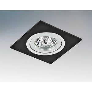 Точечный светильник Lightstar 011007Q встраиваемый точечный светильник коллекция banale 011007q черный lightstar лайтстар