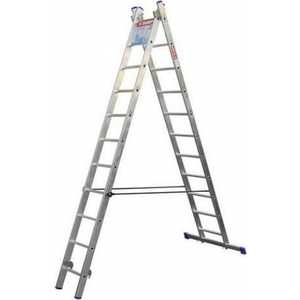 купить Лестница двухсекционная Зубр 2х11 ступеней (38821-11) онлайн
