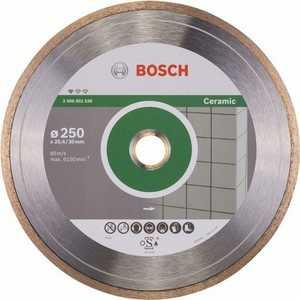 Диск алмазный Bosch 250х30/25.4мм Standard for Ceramic (2.608.602.539) алмазный диск bosch standard for ceramic 115 22 23 2608602201