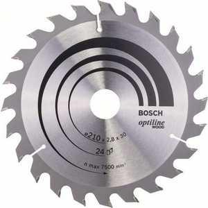 Диск пильный Bosch 210х30мм 24зуба Optiline Wood (2.608.640.621)