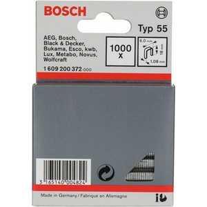 Фото - Скобы для степлера Bosch 16мм тип 55 1000шт (1.609.200.372) скобы miles тип 53 12мм 1000шт n3 12mm