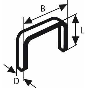 Скобы для степлера Bosch 10мм тип 53 1000шт (2.609.200.216)