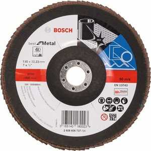 Круг лепестковый торцевой Bosch 180х22.2мм K40 Best for Metal (2.608.606.737)