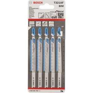 Пилки для лобзика Bosch 132мм 5шт T321AF Speed for Metal (2.608.636.705)