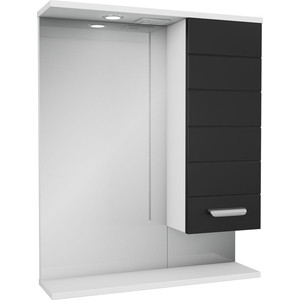 Зеркало-шкаф Меркана Таис 61 черный каннелюр (25551)