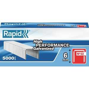 Скобы для степлера Rapid 6мм тип 53 5000шт Workline (11856250)