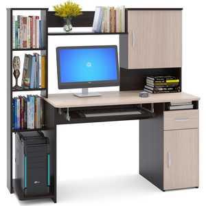 Стол компьютерный СОКОЛ КСТ-11.1 венге/дуб беленый стол компьютерный гамма кст 1200 дуб сонома