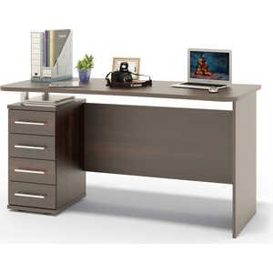 Стол компьютерный СОКОЛ КСТ-105.1 венге письменный стол сокол кст 107 1