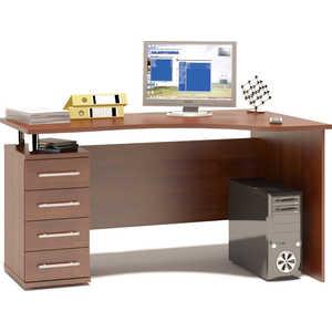 Стол компьютерный СОКОЛ КСТ-104.1 испанский орех левый стол компьютерный левый кст 102