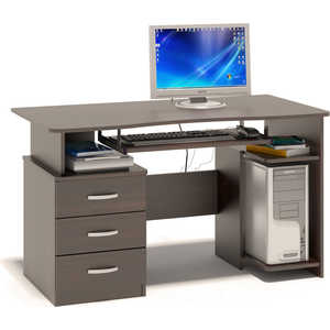 Стол компьютерный СОКОЛ КСТ-08.1 венге сокол мебель кст 105 венге