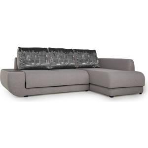 Диван угловой SettySet Нью Йорк правый серый диван угловой settyset нью йорк левый коричневый