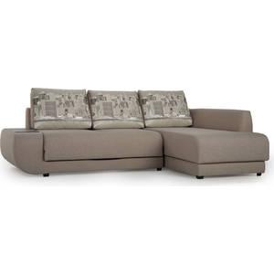 Диван угловой SettySet Нью Йорк правый светло-серый диван угловой settyset нью йорк левый коричневый